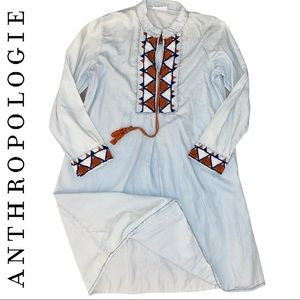 Anthropologie Sofrito Tribal Print Peasant Dress